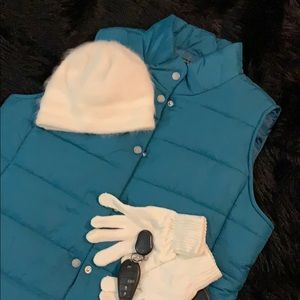 NWOT Daisy Fuentes Aquamarine Puffer Vest Jacket L